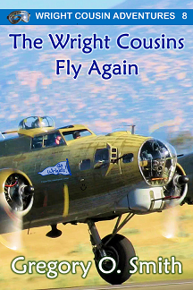 Cover of The Wright Cousins Fly Again adventure book