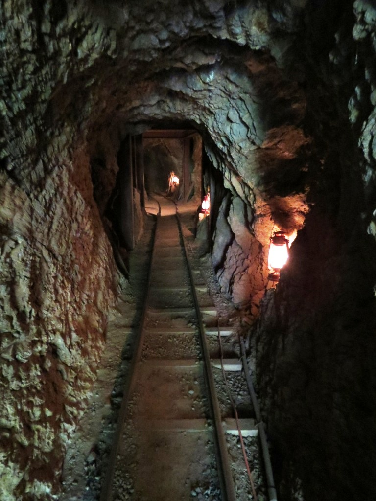 Interior of the gold mine worked in by author Gregory O. Smith